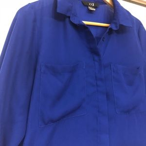 Forever 21 blue dress shirt